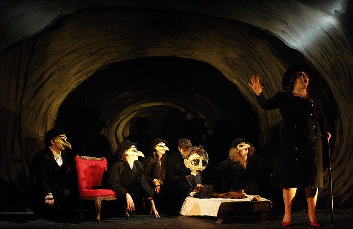 The cast of Fables for a Boy at Lost Theatre, London. Photo: Silhouette Images