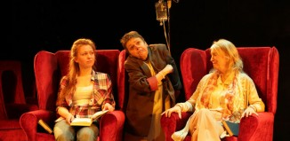 Bethan Rose Young, Sara Beer and Sharon Morgan in Cosy at Wales Millennium Centre. Photo: Farrows Creative