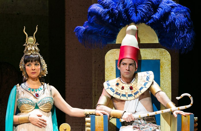 Jasmine Hyde and Niv Petel in NotMoses at Arts Theatre, London. Photo: Darren Bell