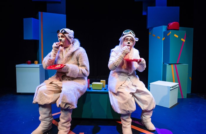 Eilidh MacAkill, Fiona Manson in The Polar Bears Go up at Unicorn theatre, London. Photo: Richard Davenport