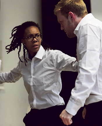 Cardboard Citizens' recent touring show Meta was developed with students from Tower Hamlets, London. Photo: richard lakos