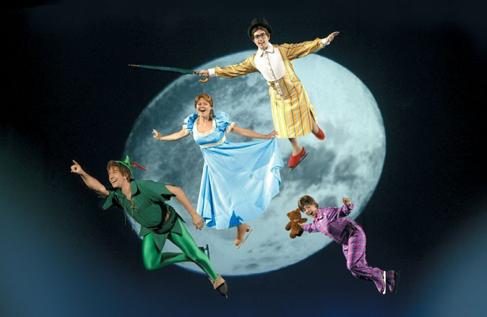 The cast of Disney on Ice perform a scene from Peter Pan. Photo: Disney on Ice