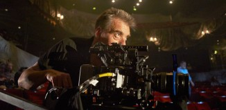 A camera operator filming The Crucible at London's Old Vic in 2014. Photo: Digital Theatre