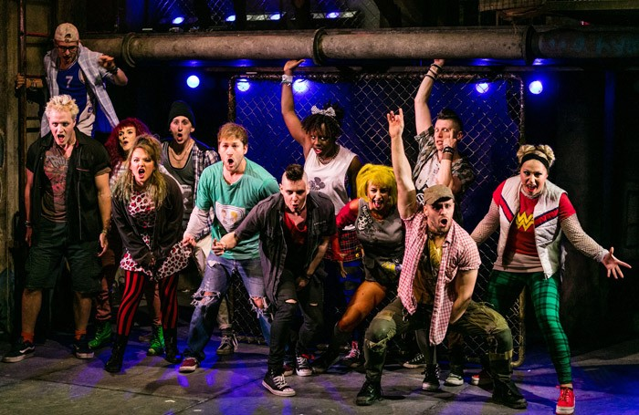 The cast of American Idiot at Churchill Theatre, Bromley. Photo: Darren Bell