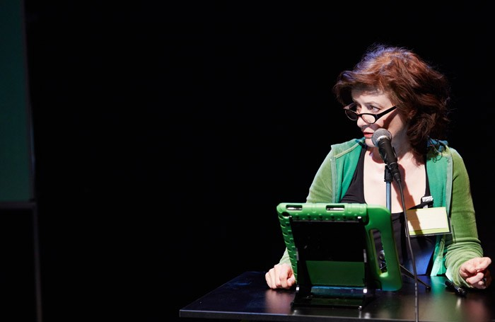 Angela Clerkin in Remote at Camden People's Theatre, London.
