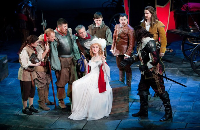 Sara Lloyd-Gregory in Cyrano de Bergerac at Theatr Clwyd, Mold. Photo: Pete Le May