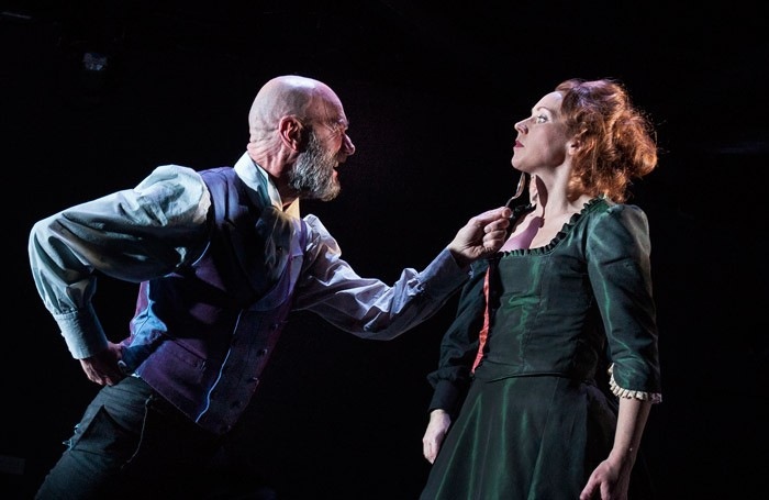 Tam Dean Burn and Lucianne McEvoy in Dance of Death at the Citizens Theatre, Glasgow. Photo: Drew Farrell