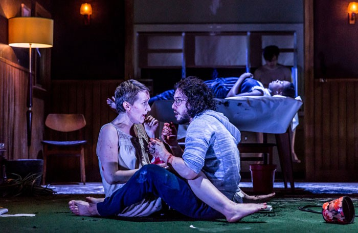 Jenna Russell and Kit Harington in Dr Faustus at the Duke of York's Theatre. Photo: Marc Brenner