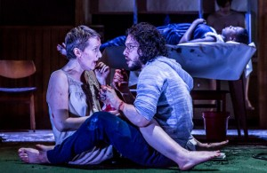 EMBARGOED until 26 04 16 Jenna Russell and Kit Harington in Doctor Faustus. Running at the Duke of York's Theatre London until 25 June 2016  CREDIT Marc Brenner