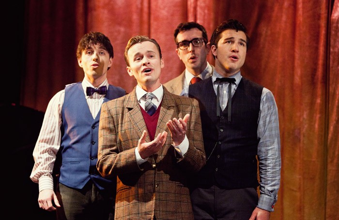 The cast of Forever Plaid at St James Studio, London.