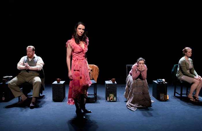 The cast of Forever Yours, Mary-Lou at Ustinov Studio, Bath. Photo: Simon Annand.