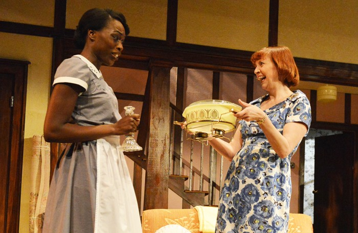 Gloria Onitiri and Rebecca Manley in Clybourne Park at the Mercury Theatre, Colchester. Photo: Tristram Kenton