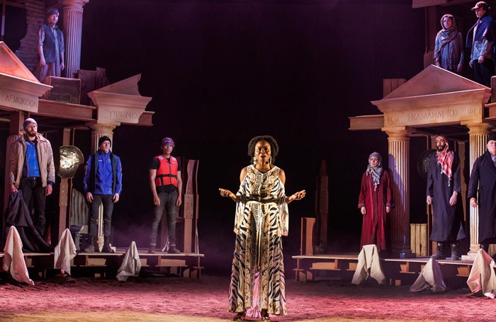 The cast of The Iliad at Royal Lyceum Theatre, Edinburgh.