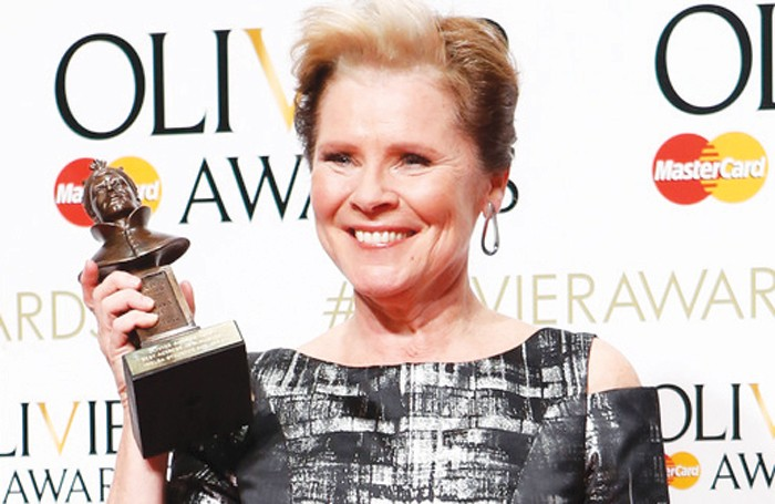 Imelda Staunton, winner of best actress in a musical. Photo: Pamela Raith