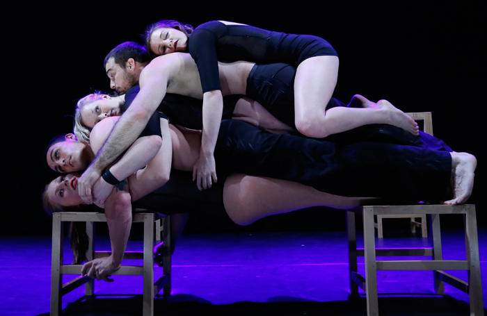 A scene from Circa's Closer at the Underbelly, Southbank Centre, London. Photo: Luke MacGregor