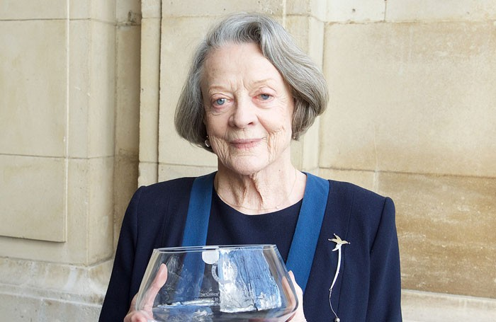 Maggie Smith with her Critics' Circle award. Photo: Elliot Franks