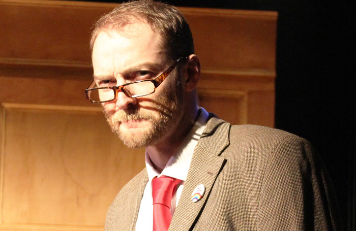 Martin Neely in Corbyn the Musical: The Motorcycle Diaries. Photo: Rupert Myers