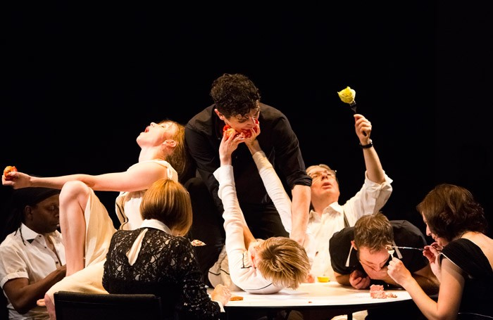 The cast of May Contain Food at The Place, London. Photo: Alicia Clarke
