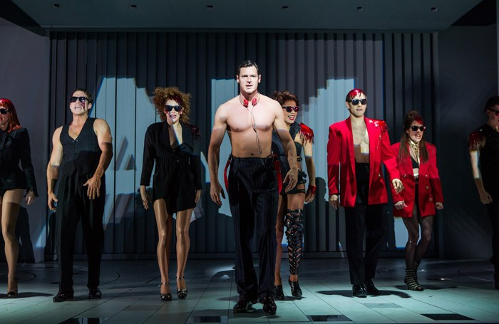 The cast of American Psycho at Gerald Schonfeld Theatre, Broadway.