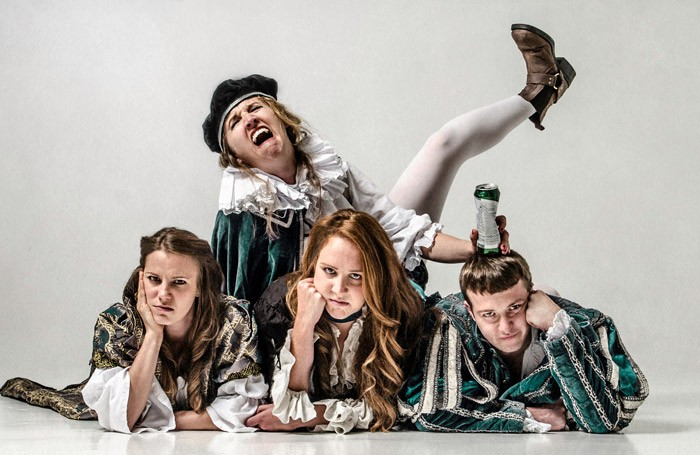 The cast of Shit-faced Shakespeare at Leicester Square Theatre, London. Photo: Rah Petherbridge Photography