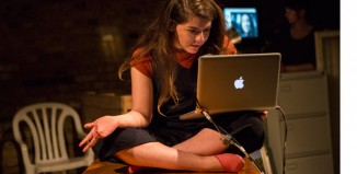 Taghrid Choucair in Scenes from 68* Years at Arcola Theatre, London. Photo: Ellie Kurtz