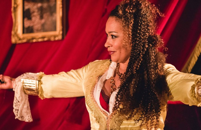 Martina Laird in The Taming of the Shrew at Above the Arts, London.