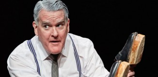Mikel Murfi in The Man in Woman's Shoes at Tricycle Theatre, London. Photo: Mark Douet