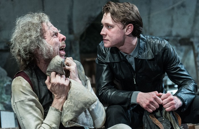 Timothy Spall and George MacKay in The Caretaker at the Old Vic. Photo: Manuel Harlan
