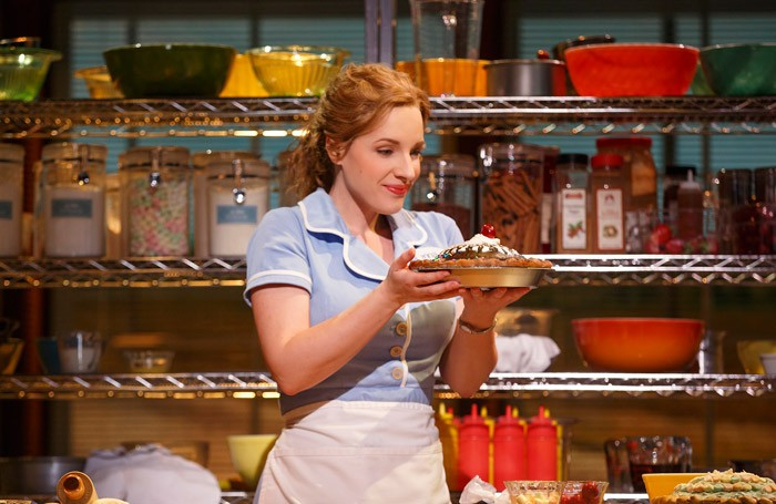 Jessie Mueller in Waitress at Brooks Atkinson Theatre, New York. Photo: Joan Marcus