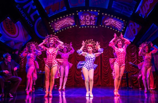 Samantha Spiro (centre) in Guys and Dolls. Photo: Johan Persson