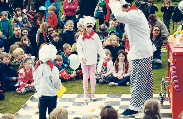A children's performance at the Fringe City Family Picnic. Photo: Nick Henley