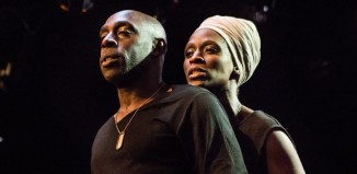Andrew French and Sharon Duncan-Brewster in The Iphigenia Quartet at Gate Theatre, London.