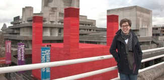 Ben Power outside the National's Temporary Theatre. Photo: Clare Nicholson