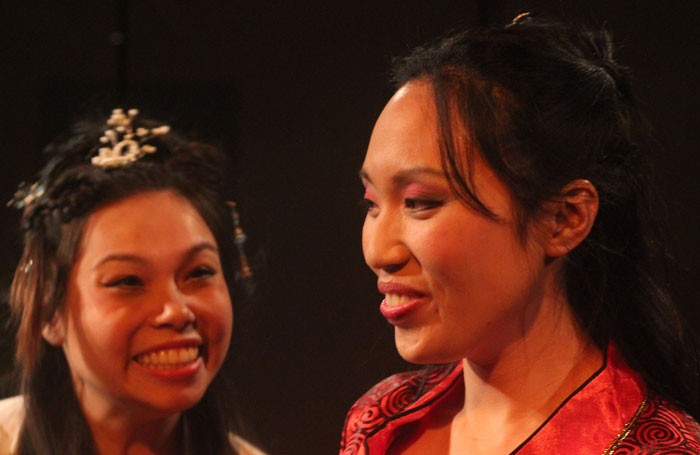 Siu-See Hung and Michelle Yim in DiaoChan: The Rise of the Courtesan at Above the Arts. Photo: Ross Ericson