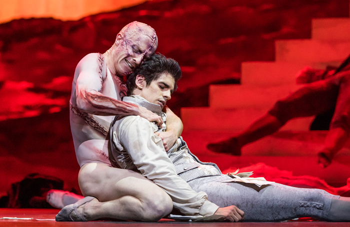 Steven McRae and Federico Bonelli in Frankenstein at the Royal Opera House. Photo: Tristram Kenton