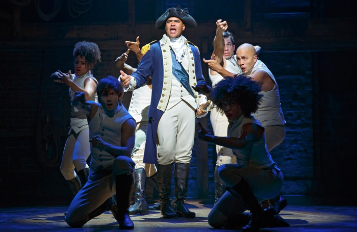 Hamilton on Broadway. Photo: Joan Marcus