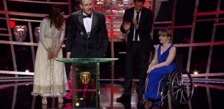Jack Thorne and the creative team for Don't Take My Baby accept the best single drama award at the BAFTA Television Awards 2016. Photo: BBC/BAFTA