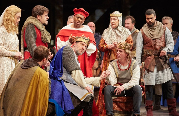 The cast of King John at Rose Theatre, Kingston. Photo: Marc Douet