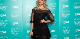 Pixie Lott at the opening night of Breakfast at Tiffany's at Curve, Leicester. Photo: Tom Wren