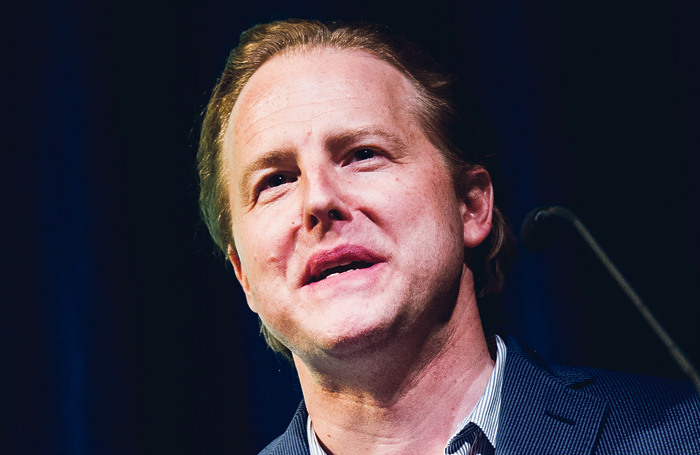 Samuel West speaking at Theatre 2016. Photo: Alex Brenner