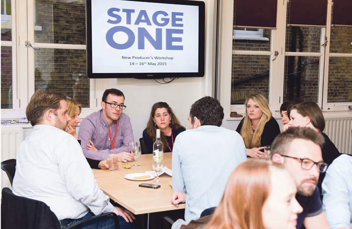 The Stage One team taking part in the Society of London Theatre's speed networking in 2015. Photo: Holly Wren