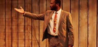 Stefan Adegbola in After Independence at the Arcola Theatre, London. Photo: Richard Lakos