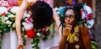Meow Meow and Nandi Bhebhe in A Midsummer Night's Dream at Shakespeare's Globe. Photo: Steve Tanner