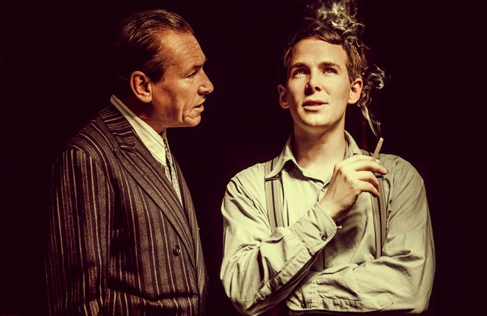 Simon Dutton and Paul Keating in Kenny Morgan at the Arcola Theatre, London. Photo: Idil Sukan