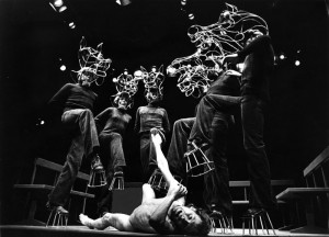 Equus, seen here in a 1978 production in Worthing, created a sensation when it opened at the National in 1973