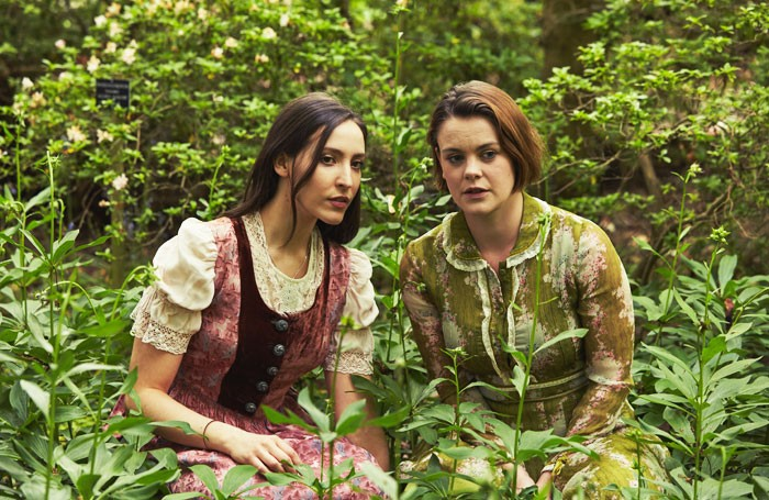 Anna Lukis and Molly Hanson in As You Like It at The Savill Garden, Windsor Great Park. Photo: Richard Davenport