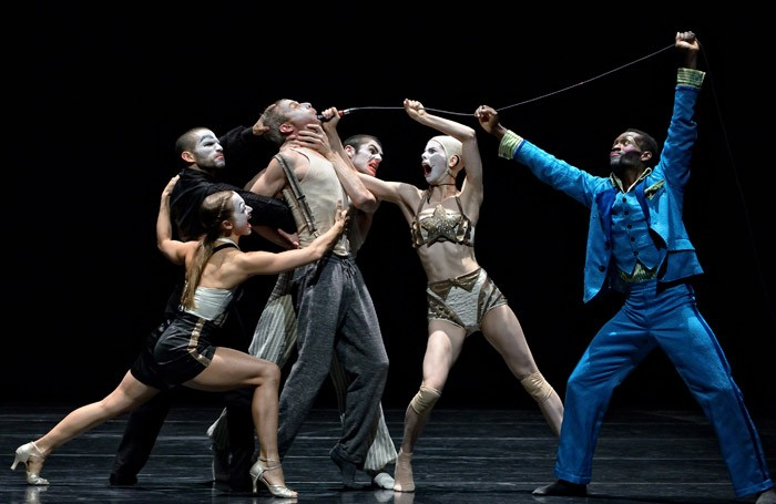The cast of Betroffenheit at Sadler's Wells, London. Photo: Michael Slobodian