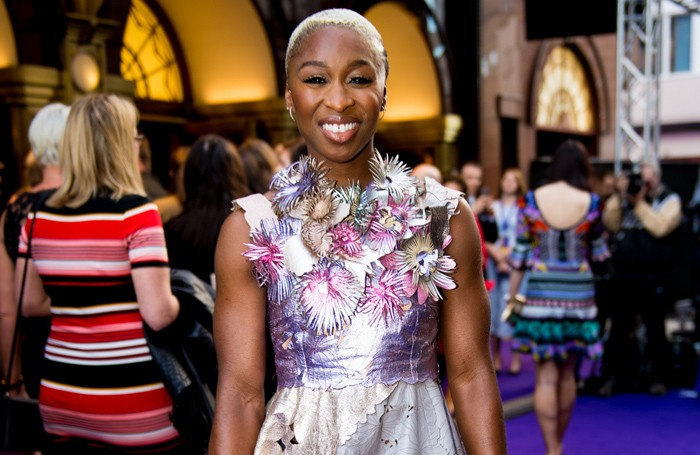 Cynthia Erivo at Aladdin opening night, Prince Edward Theatre. Photo: David Tett