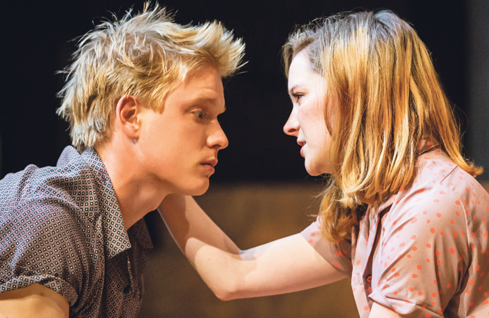 Freddie Fox with Morfydd Clark in Romeo and Juliet. Photo: Johan Persson