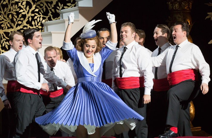 Ezgi Kutlu and company in an L'Italiana in Algeri at Garsington Opera. Photo: Johan Persson